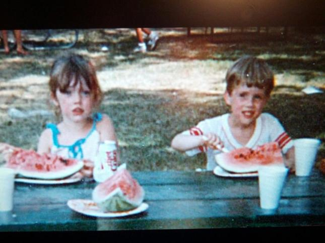 My sister and I (circa mid 1980s)